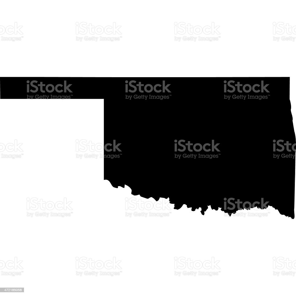 Map Oklahoma vector art illustration