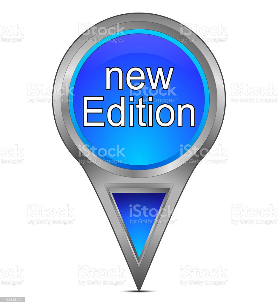 map pointer with new Edition stock photo