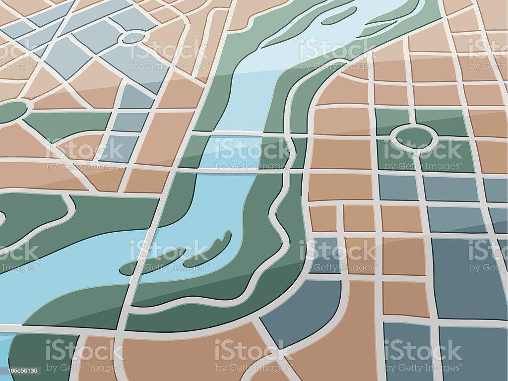 Map River City royalty-free stock vector art