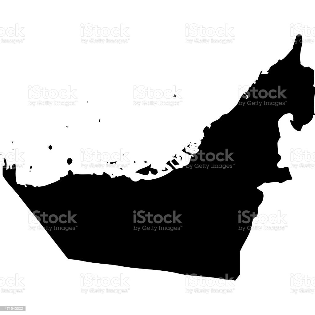 Map United Arab Emirates vector art illustration