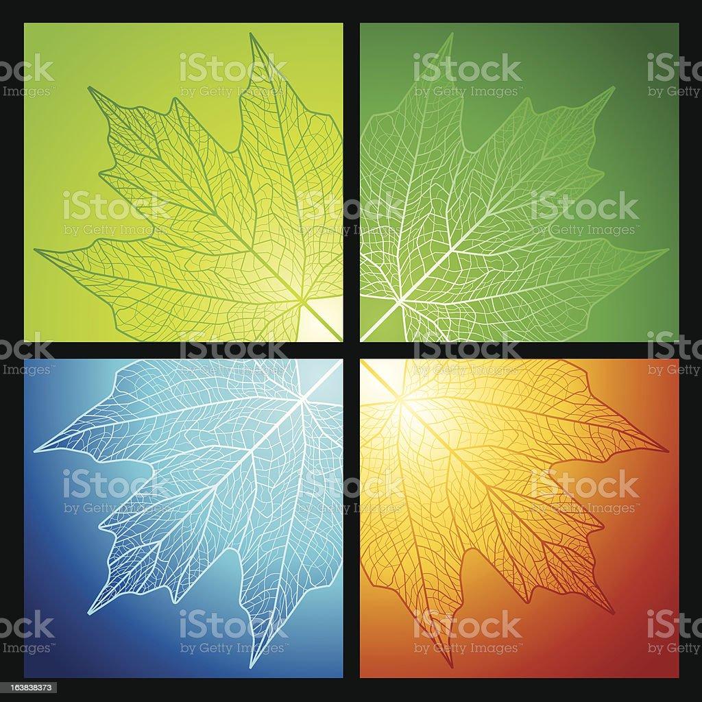Maple leaf corners royalty-free stock vector art