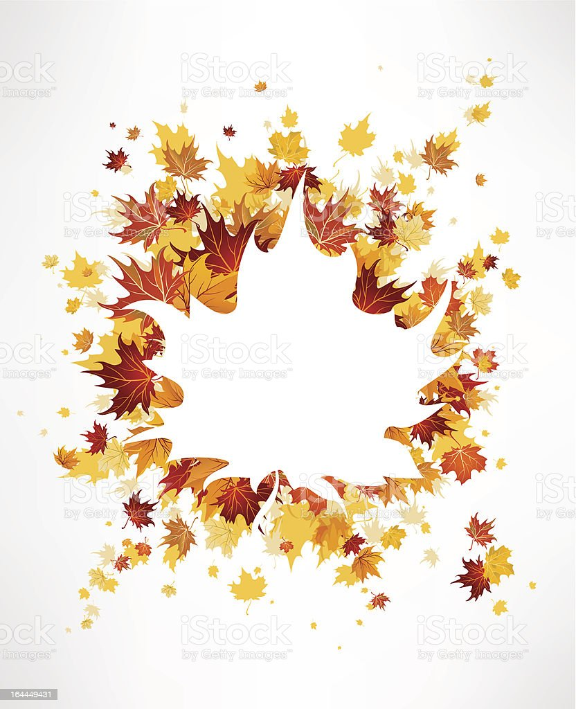 Maple leaves background royalty-free stock vector art