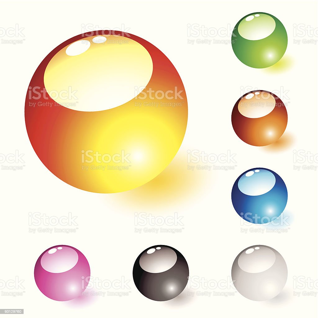 marble shine glow royalty-free stock vector art