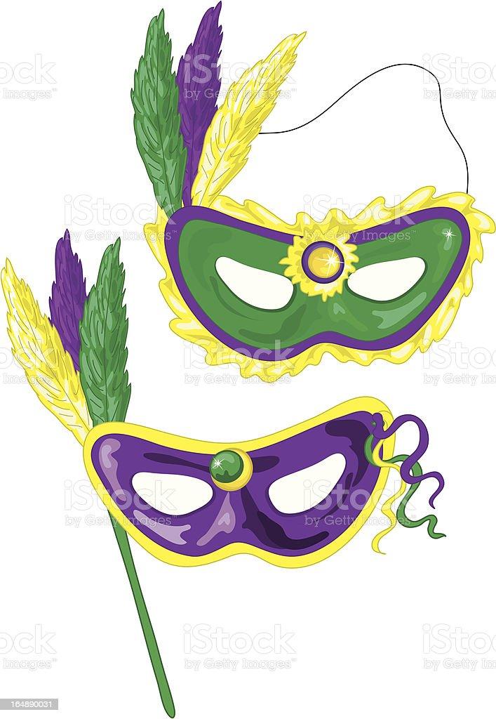 Mardi Gras masks royalty-free stock vector art