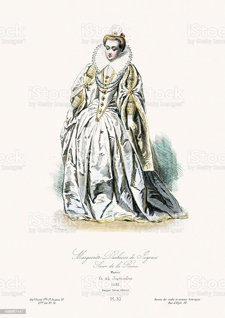 Marguerite Duchesse de Joyeuse royalty-free stock vector art