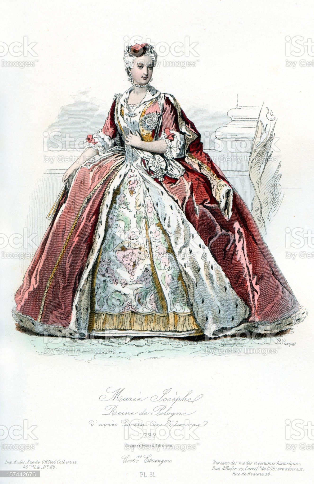 Maria Josepha Queen of Poland royalty-free stock vector art