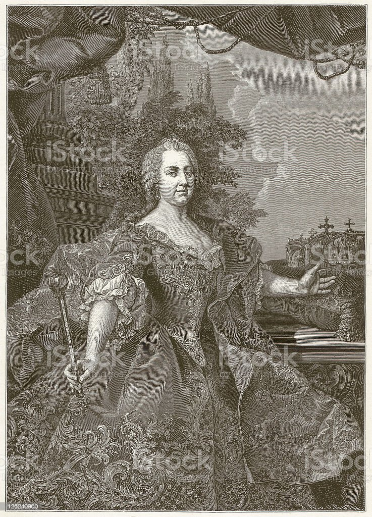 Maria Theresa vector art illustration