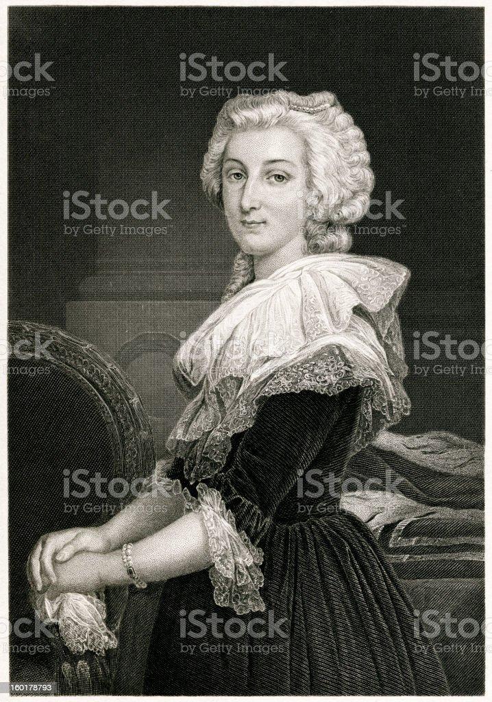 Marie Antoinette royalty-free stock vector art