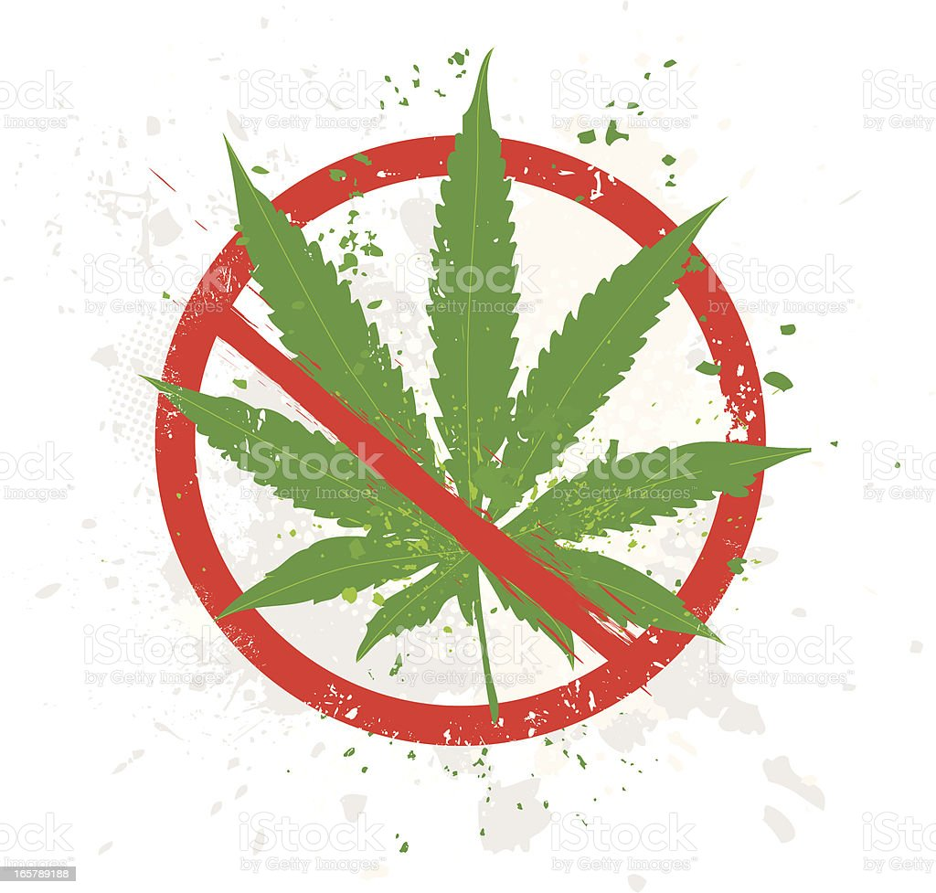Marijuana leaf royalty-free stock vector art