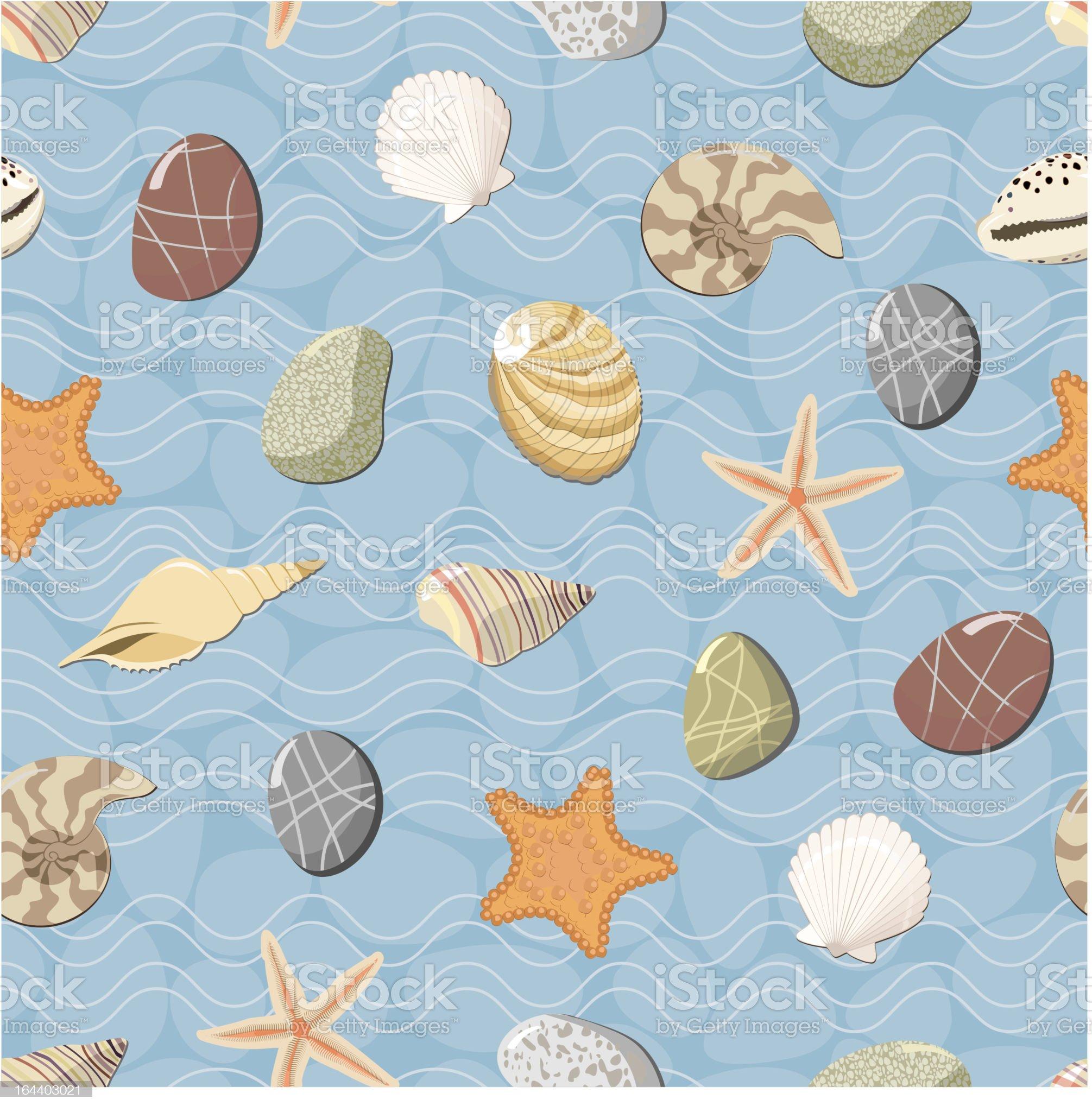 Marine seamless pattern. royalty-free stock vector art
