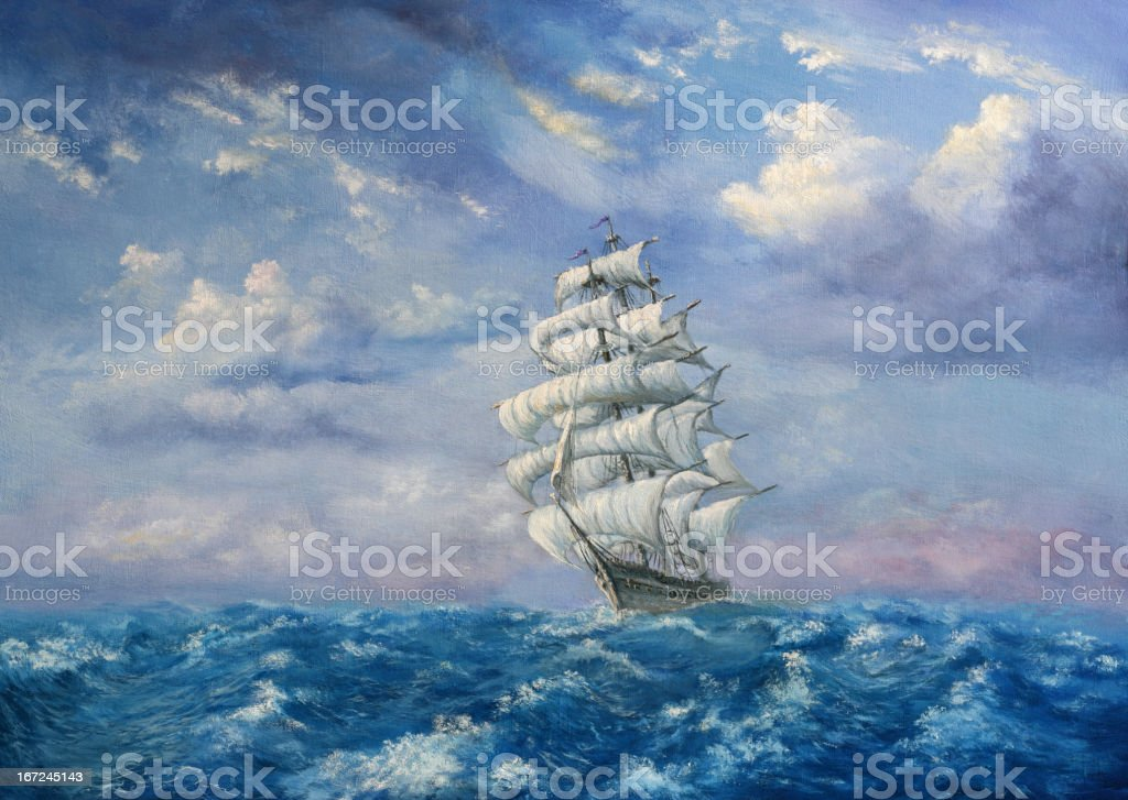 Maritime Adventure vector art illustration