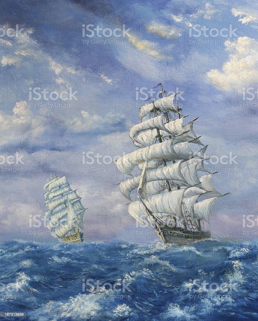 Maritime Adventure vector art illustration