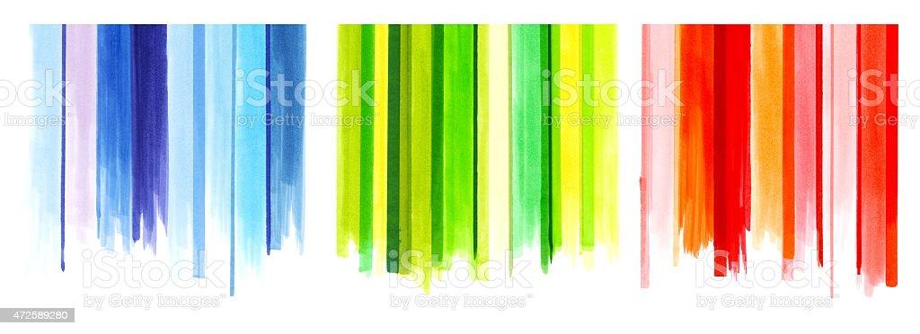 Marker lines vector art illustration