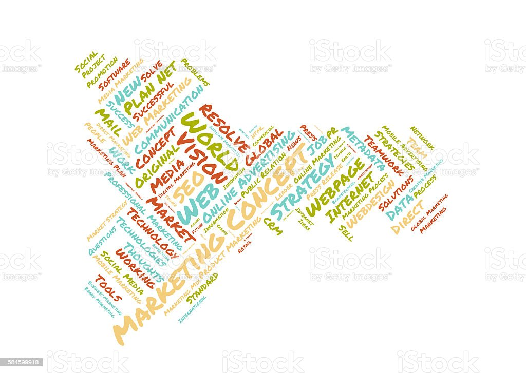 Marketing concept word cloud stock photo