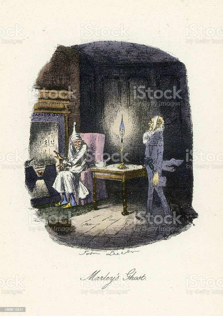 Marley's Ghost vector art illustration