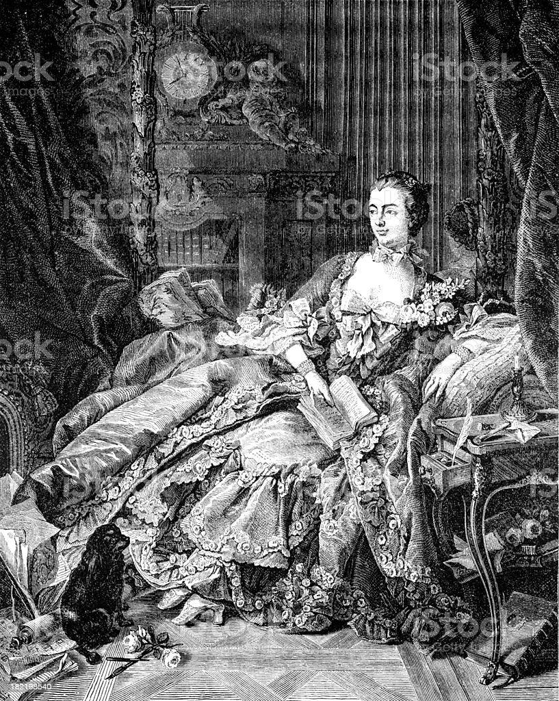 Marquise de Pompadour royalty-free stock vector art