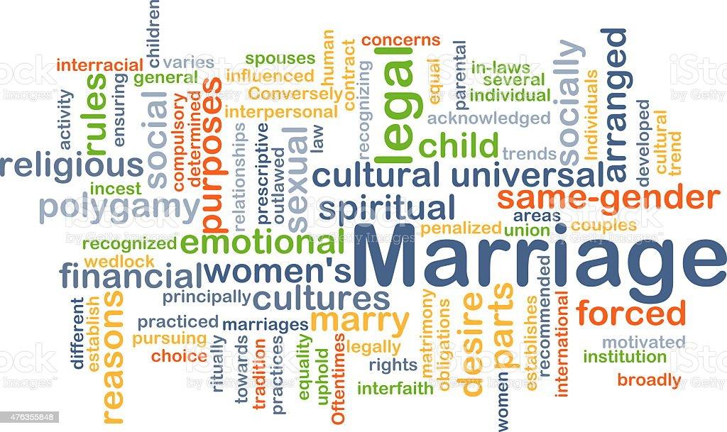 Marriage background concept vector art illustration