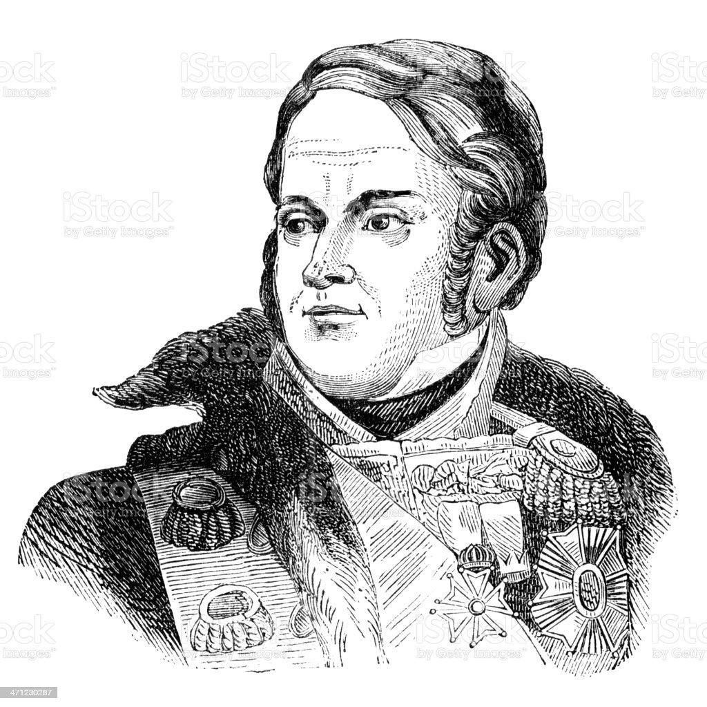 Marshal Michel Ney - 1877 illustration royalty-free stock vector art