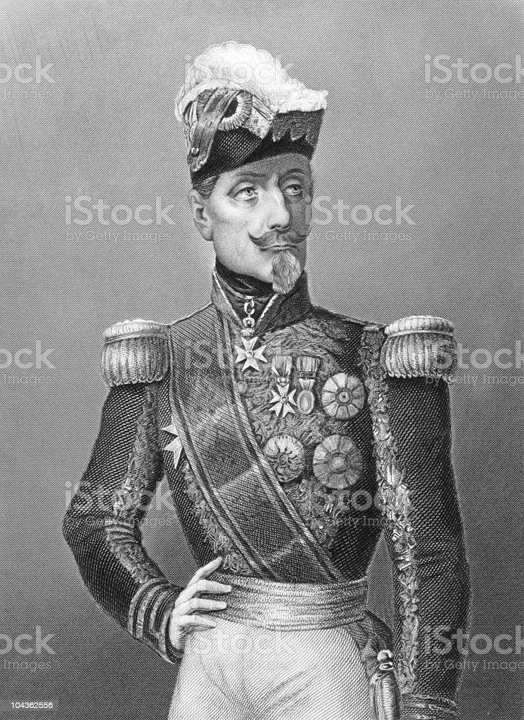 Marshal Saint Arnaud royalty-free stock vector art