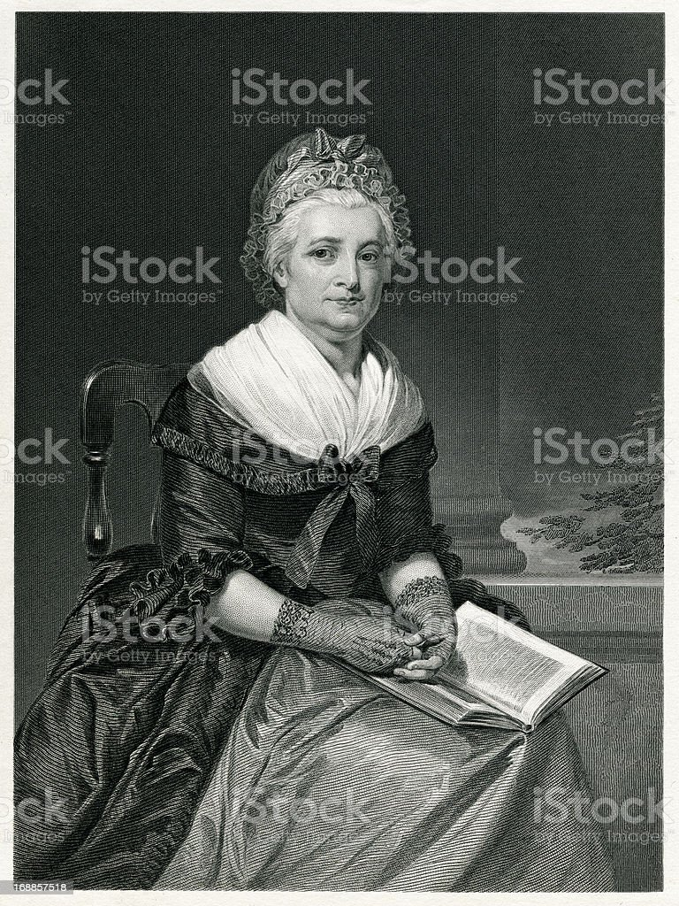 Martha Washington royalty-free stock vector art