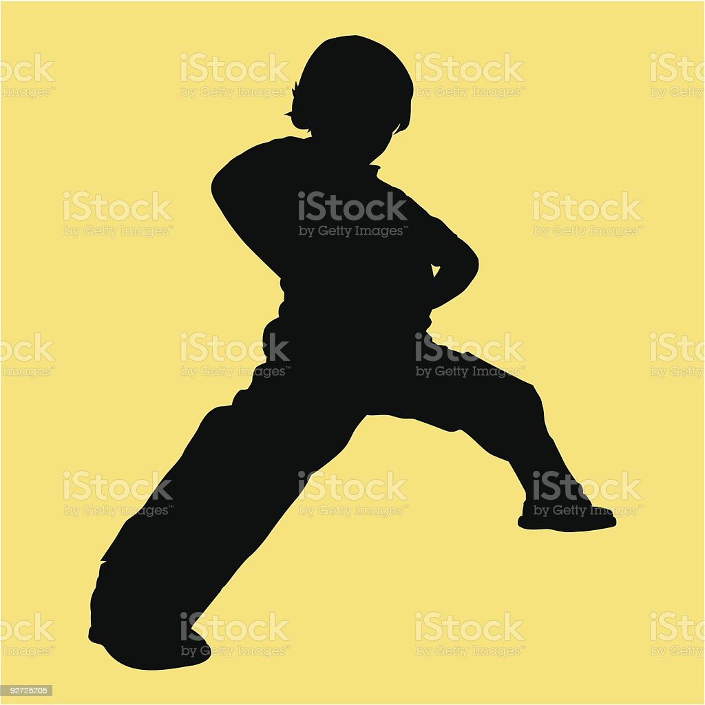 Martial arts stance - Vector illustration royalty-free stock vector art