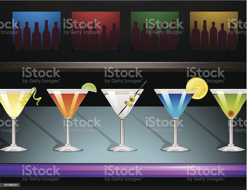 Martini Bar vector art illustration