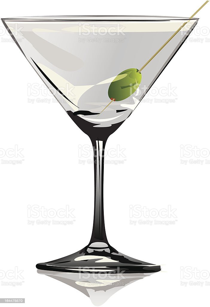 Martini Glass vector art illustration