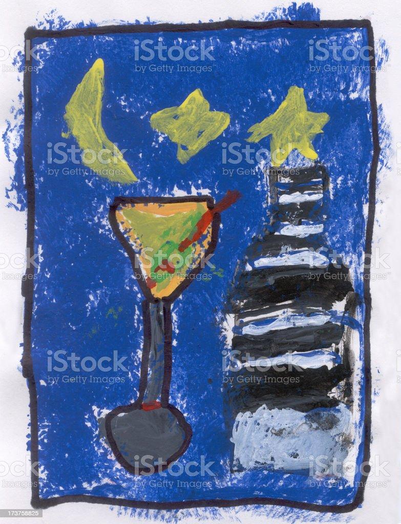 Martini painting royalty-free stock vector art