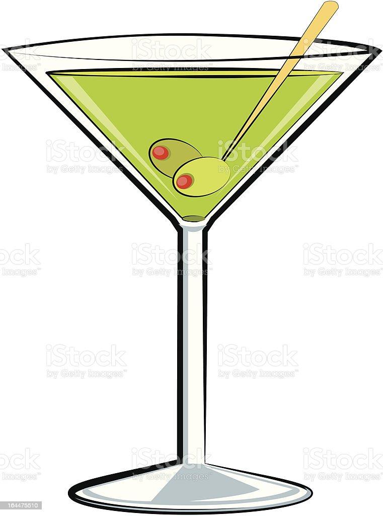 Martini sketch vector art illustration