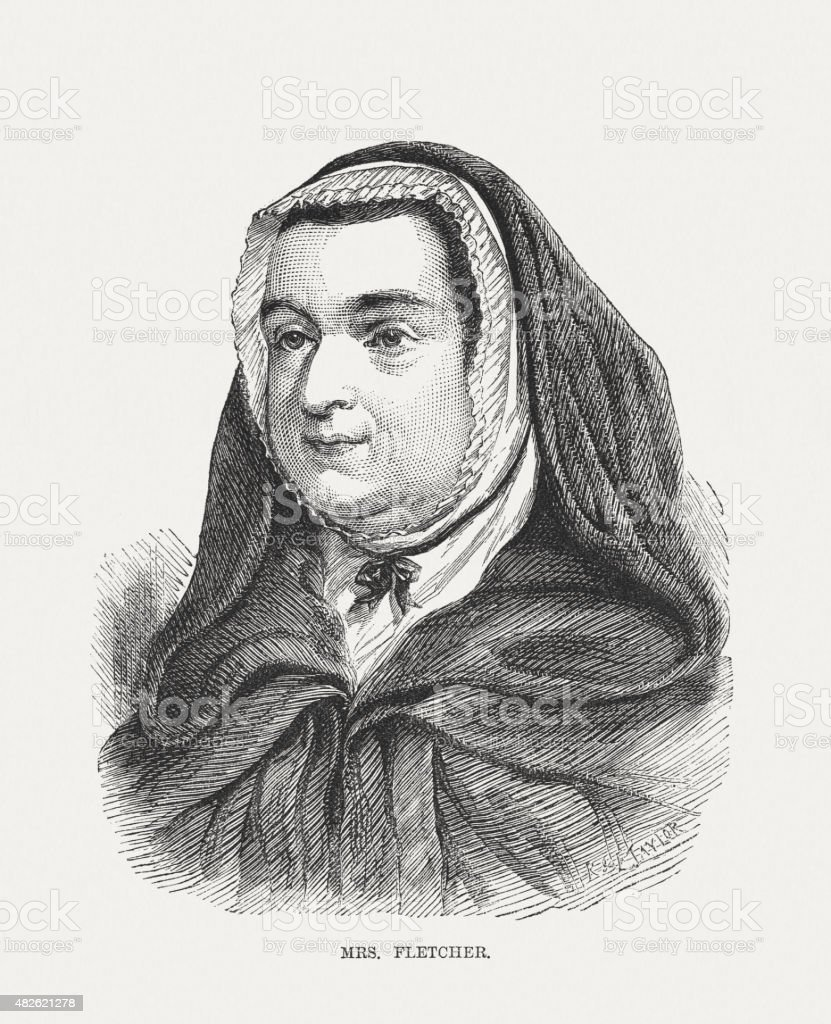 Mary Fletcher (1739 - 1815), English deaconess, published in 1873 vector art illustration