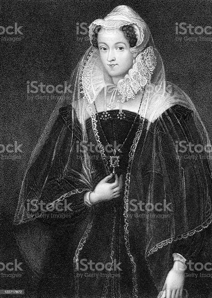 Mary I Queen of Scotland vector art illustration