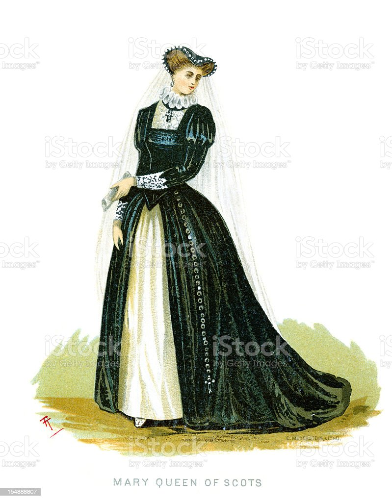 Mary, Queen of Scots vector art illustration