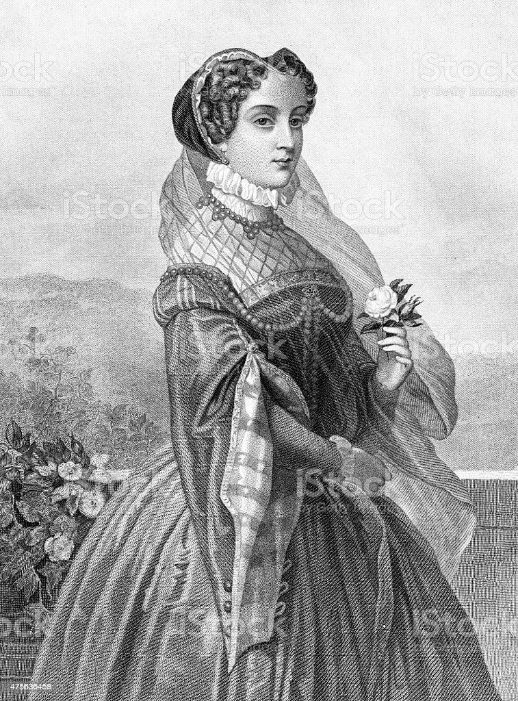 Mary Queen Of Scots vector art illustration