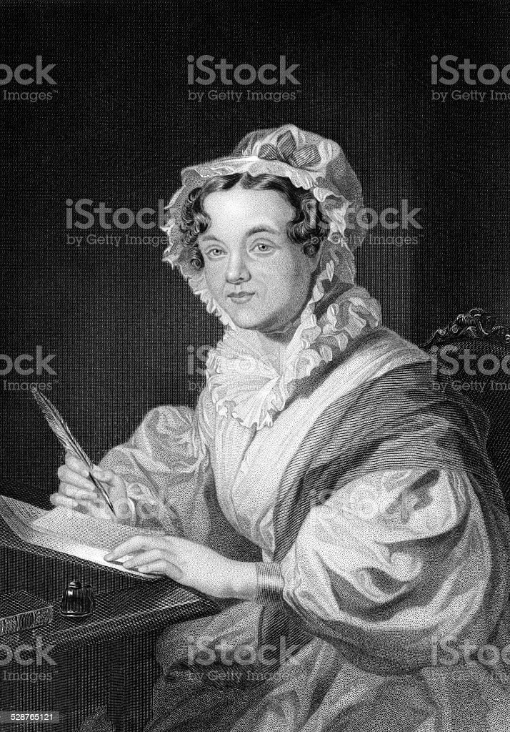 Mary Russell Mitford vector art illustration