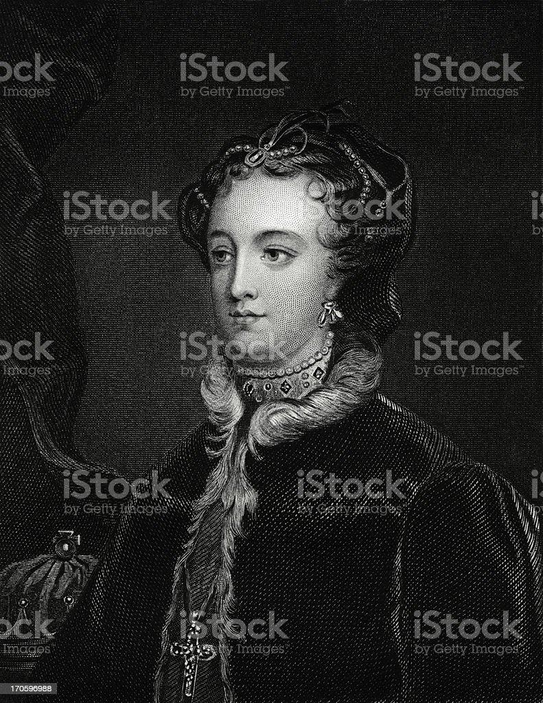 Mary Stuart vector art illustration