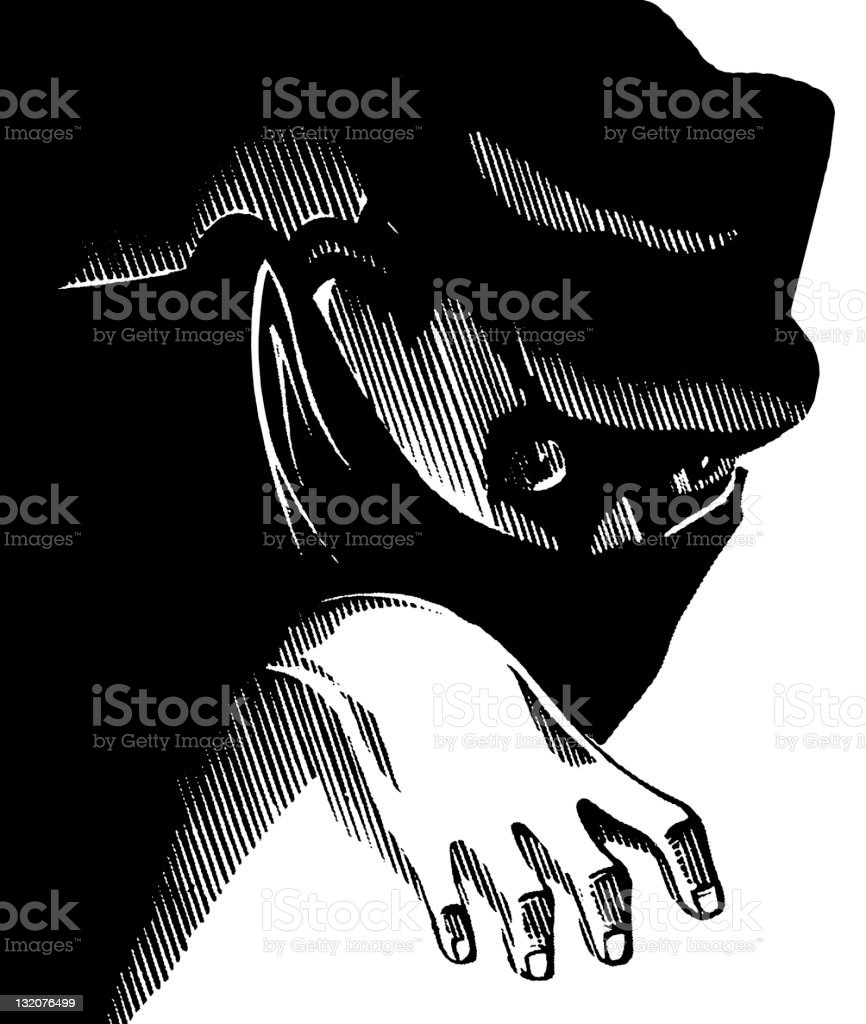 Masked Man vector art illustration