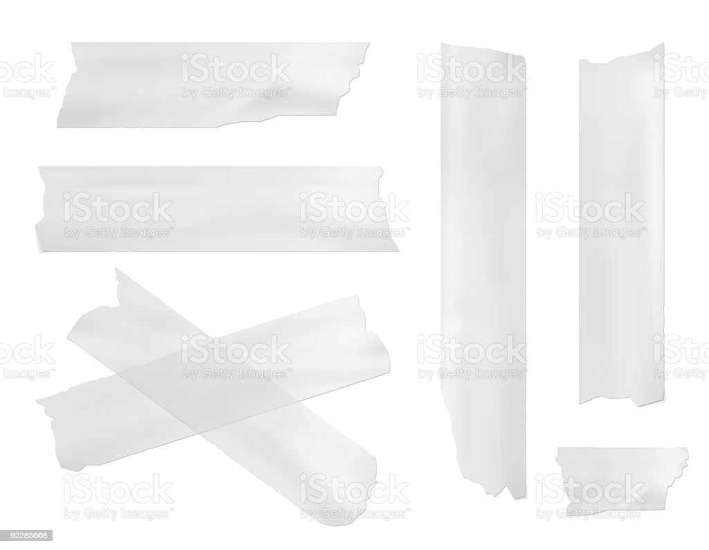 masking tape vector art illustration