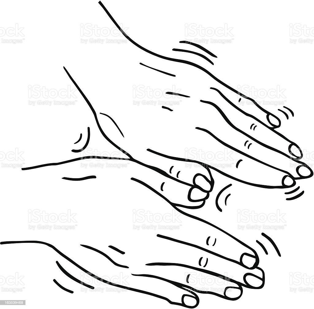 Masseuse Hands royalty-free stock vector art