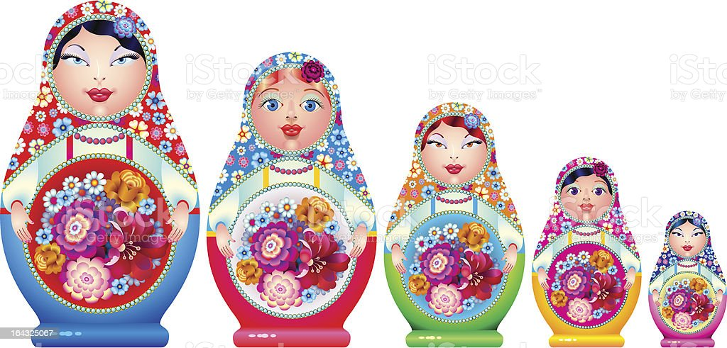 matreshka royalty-free stock vector art