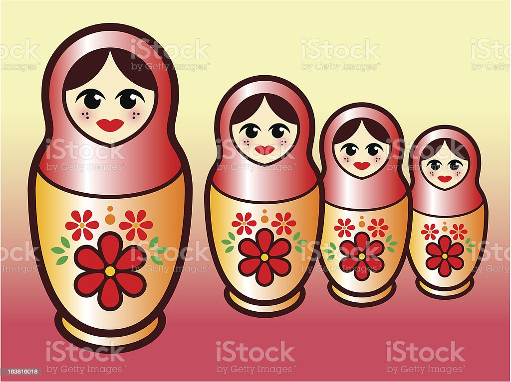 Matryoshka doll royalty-free stock vector art