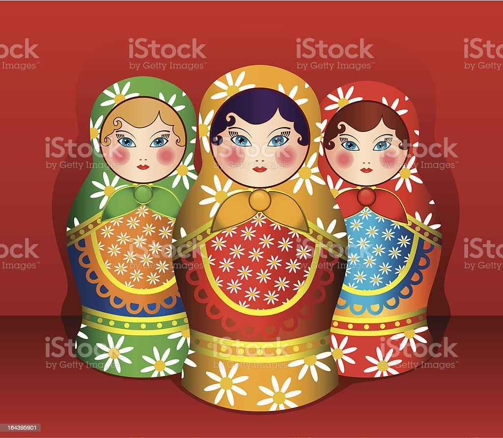 Matryoshka royalty-free stock vector art