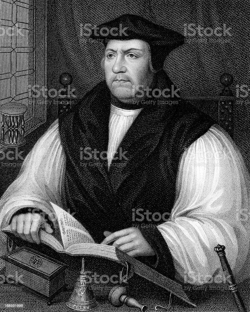 Matthew Parker, Archbishop of Canterbury vector art illustration