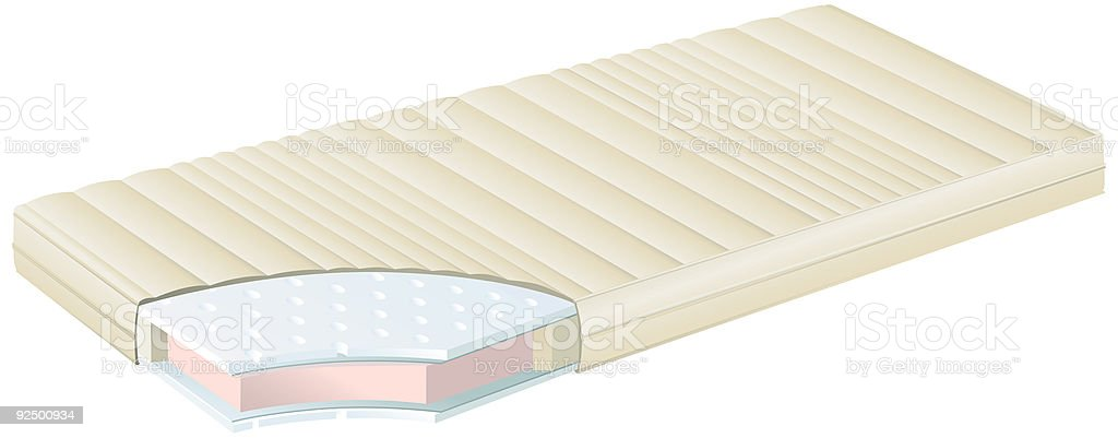 Mattress Exploded view royalty-free stock vector art