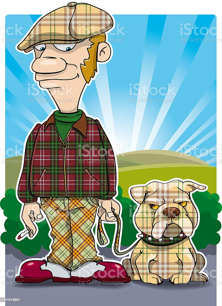 Me and my dog royalty-free stock vector art
