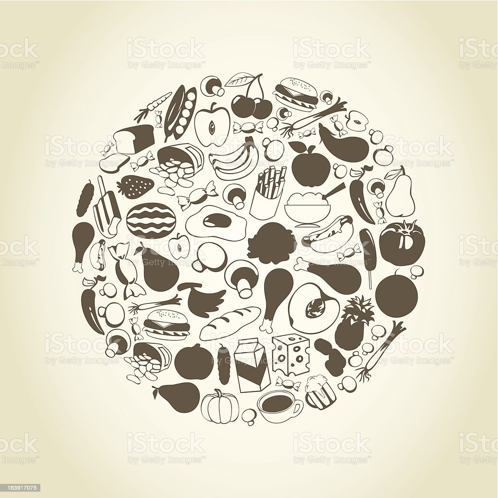 Meal a sphere royalty-free stock vector art
