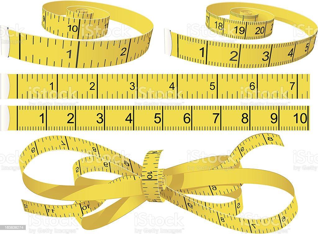 Measuring Tapes vector art illustration