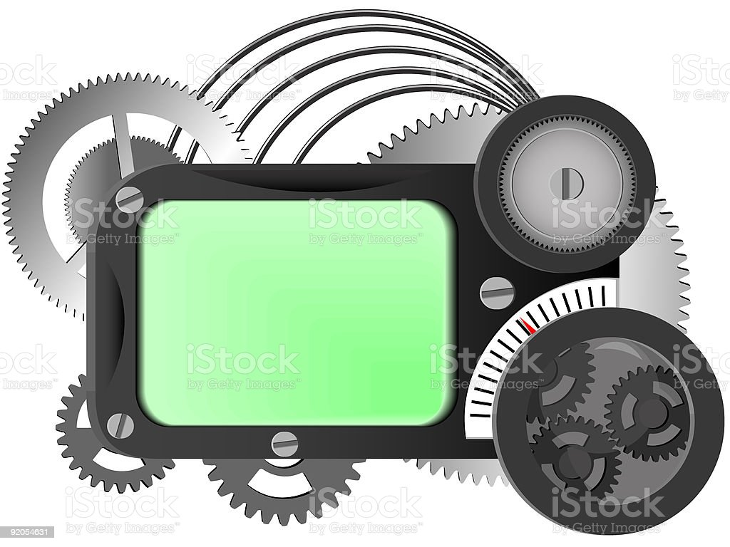 mechanism from gears royalty-free stock vector art