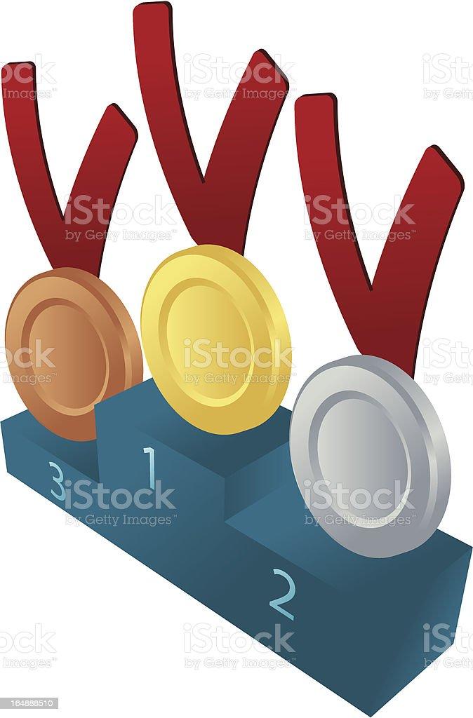 Medal awards illustration royalty-free stock vector art