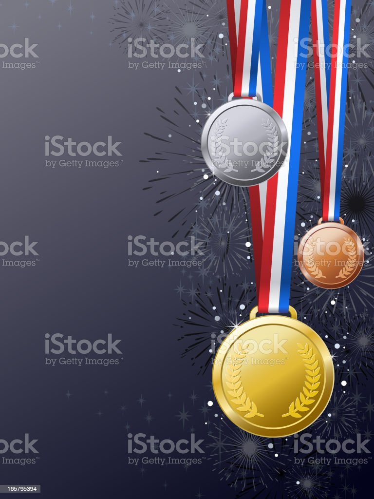 Medals Awards Background vector art illustration