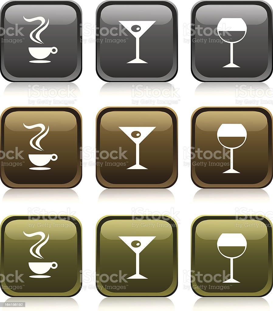 'Medals Series' - Drinks royalty-free stock vector art